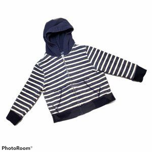 PLACE Striped Zip-up Hoodie w/Pockets